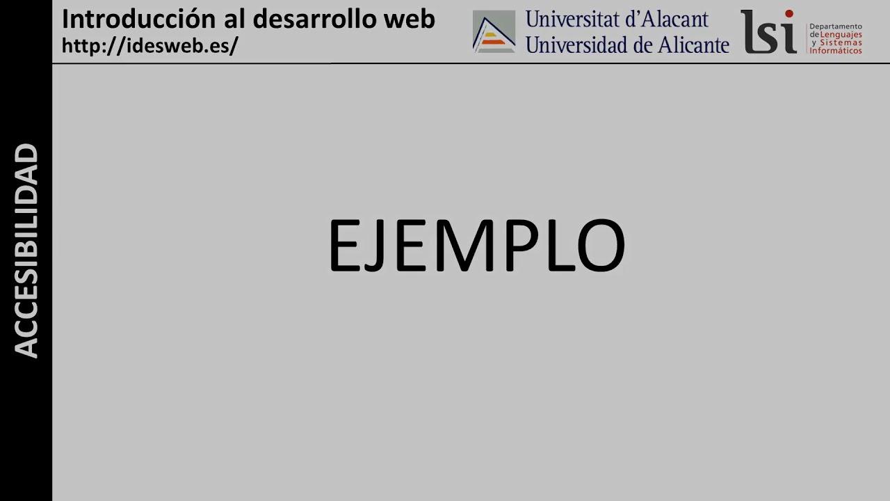 Accesibilidad Web: Formularios (2)