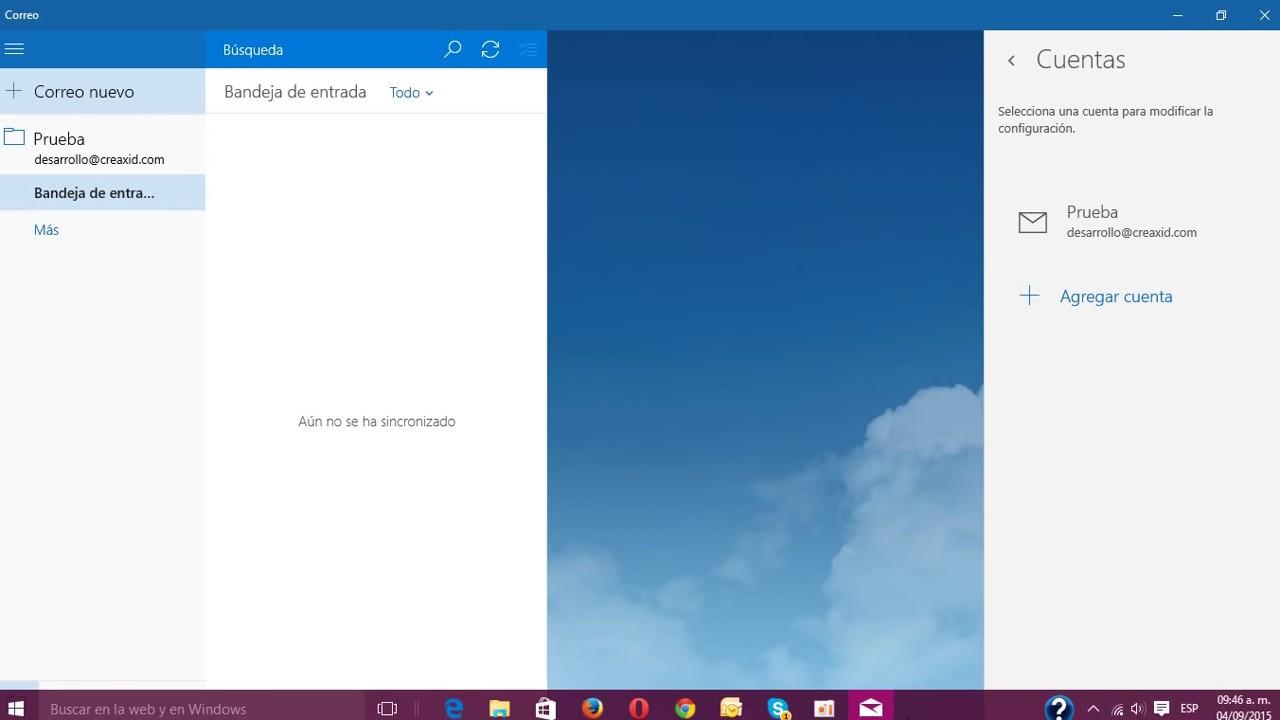 Configurar correo de dominio propio en Windows 10