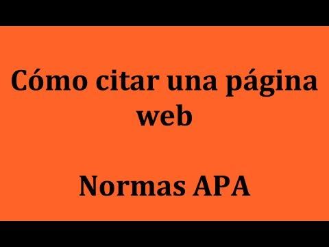 APA: Cómo citar una página web