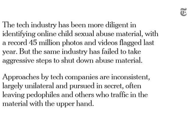 Las experiencias horrendas se están recirculando en Internet porque los motores de búsqueda, las redes sociales y el almacenamiento en la nube están llenos de oportunidades para que los delincuentes los exploten. https://nyti.ms/2QcKpPB pic.twitter.com/aKyeVAj6pY
