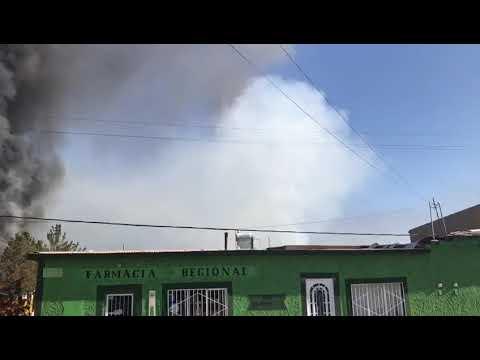 Quema de Negocios Ignacio Zaragoza 06 mayo 2018