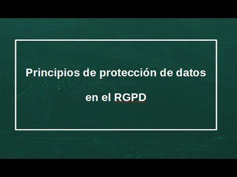 Los principios del RGPD
