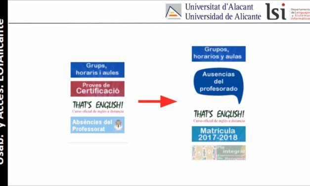 Accesibilidad y usabilidad del sitio web de la Escuela Oficial de Idiomas de Alicante