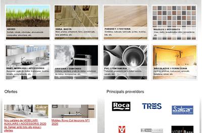Creación nueva web corporativa para la empresa Materials Piñol