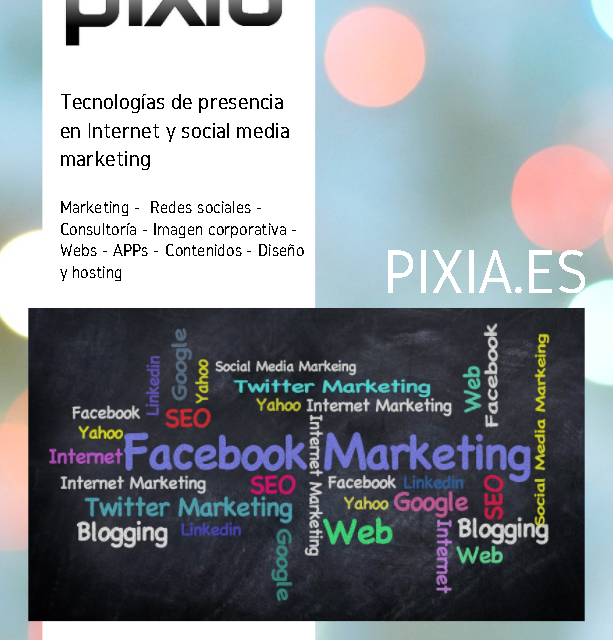 Nuevo catálogo de ofertas de Pixia en servicios y soluciones de promoción en Internet